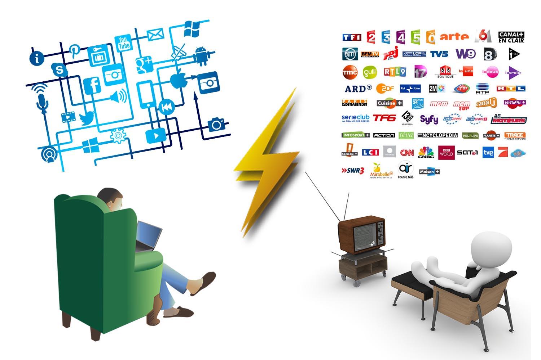 medias sociaux vs tv
