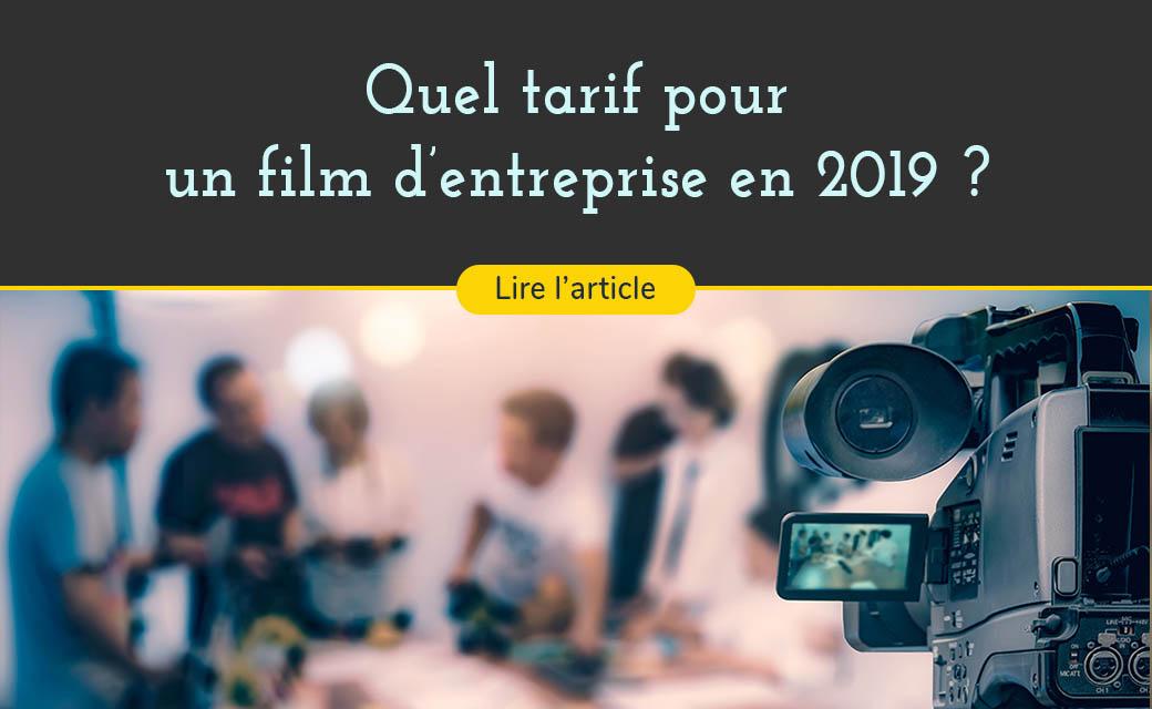 Connaître le tarif d'un film d'entreprise en 2019
