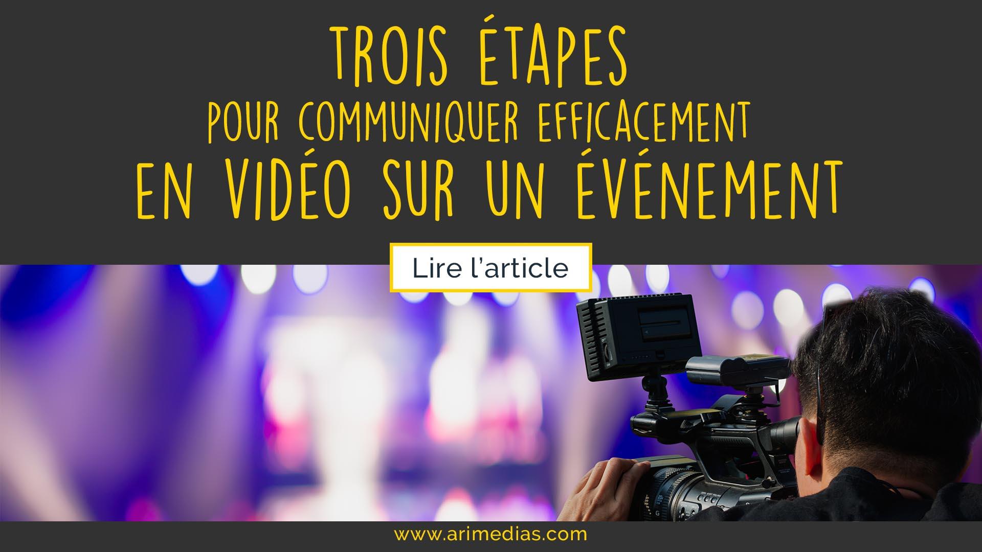 communiquer efficacement en video sur un evenement