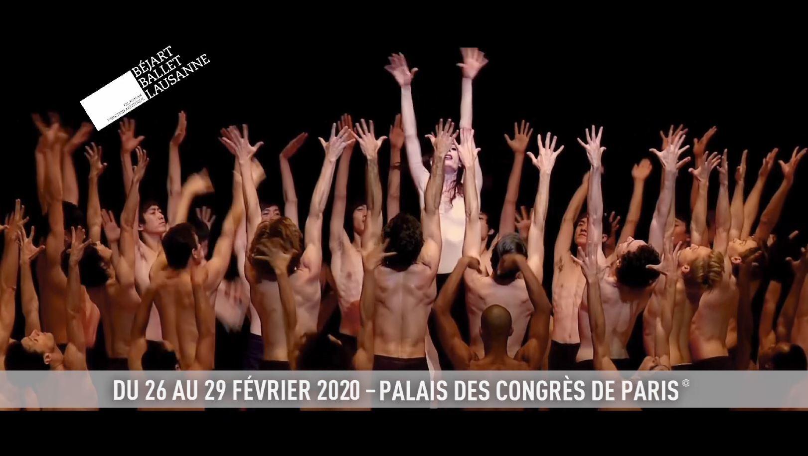 éalisation d'un spot tv pour la campagne média du ballet Bejart fête maurice par la compagnie du Béjart Ballet Lausanne