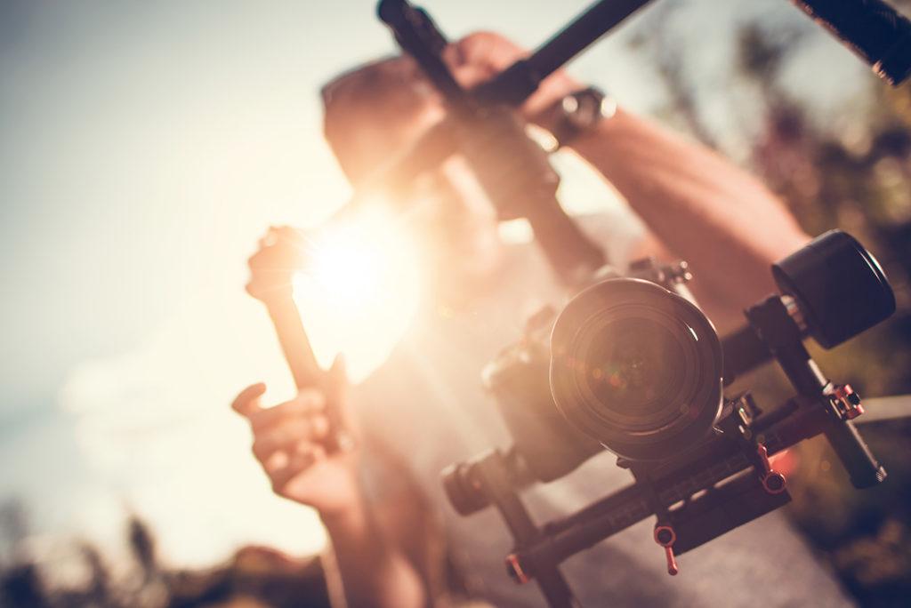 tournage professionnel d'une agence de production vidéo