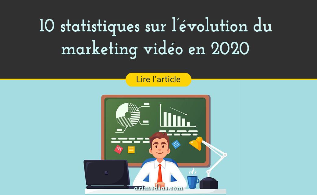 10 statistique sur l'évolution du marketing vidéo en 2020