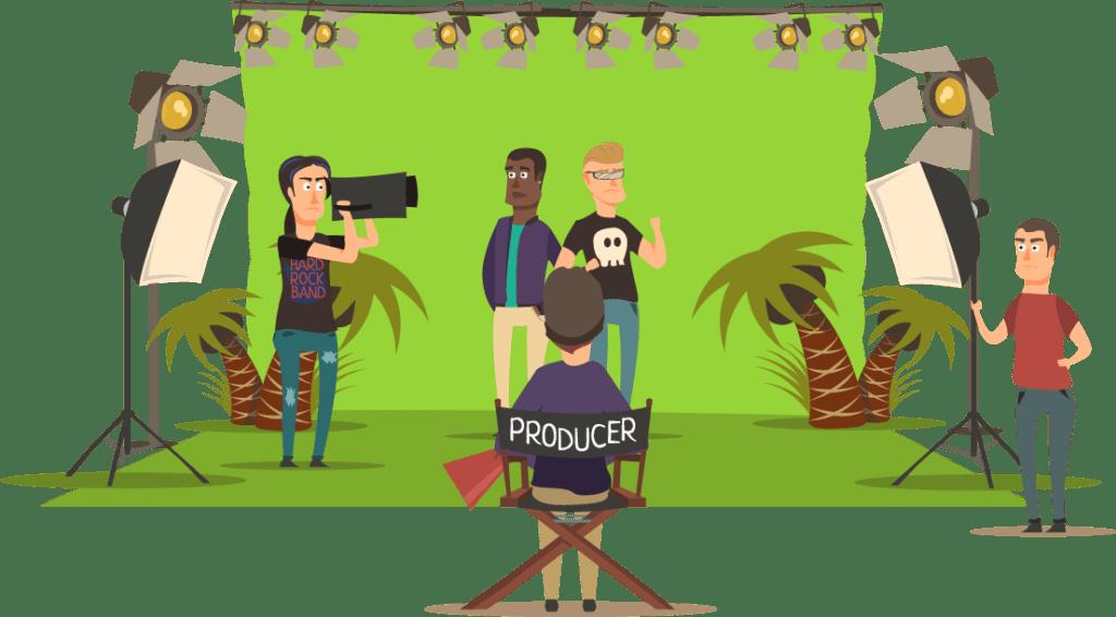 film tournage fond vert entreprise