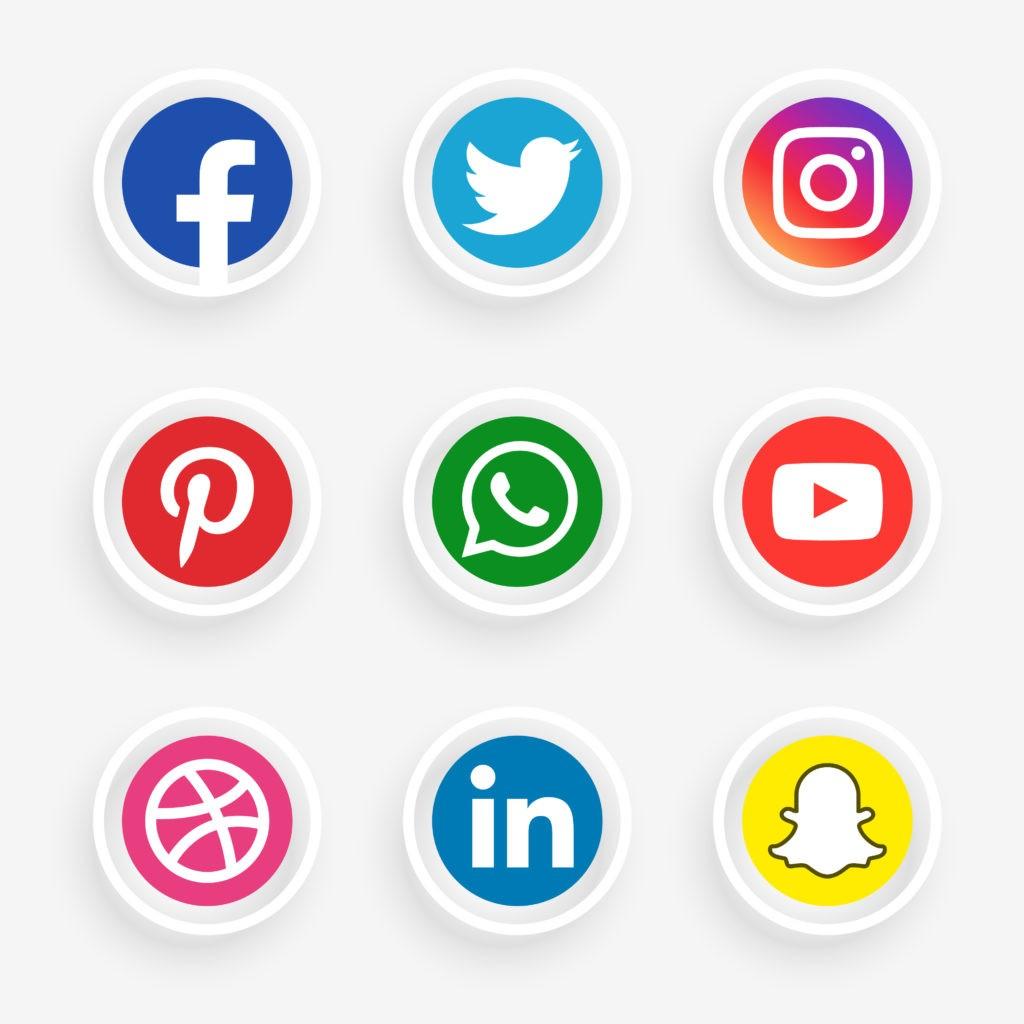 brief agence logos réseaux sociaux